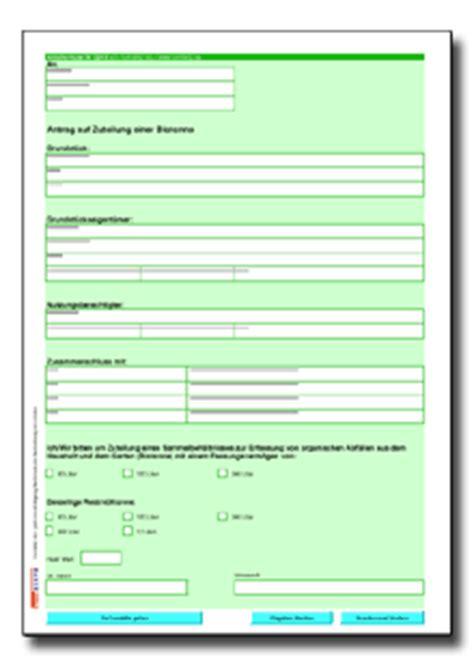 Musterbrief Erstattung Bearbeitungsgebühr Kredit Pdf Antrag Auf Zuteilung Einer Biotonne De Formular