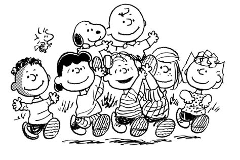 free coloring pages of snoopy and charly brown