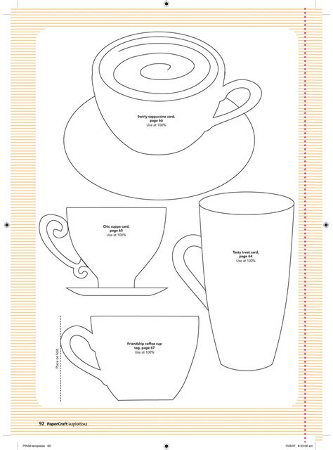 Teacup Card Template Printable by Paper Cup Template Http Www