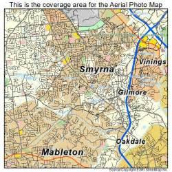 aerial photography map of smyrna ga