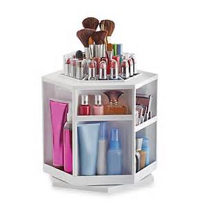 Greiner 174 spinning cosmetic organizer in white bed bath amp beyond