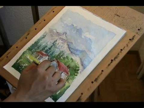 watercolor landscape tutorial youtube watercolor painting of a landscape youtube