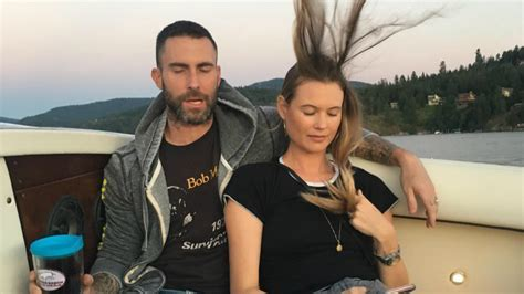 Adam Levine Posts 'Close to Perfect' Photo of Him and Wife