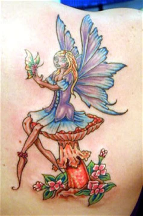 fairy and flower tattoo designs artistic