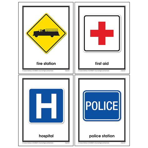 Survival Signs Worksheets by Survival Signs And Symbols Learning Cards By Carson