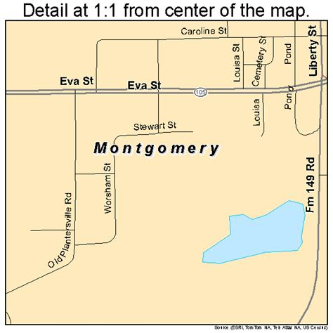 map montgomery texas montgomery texas map 4849128