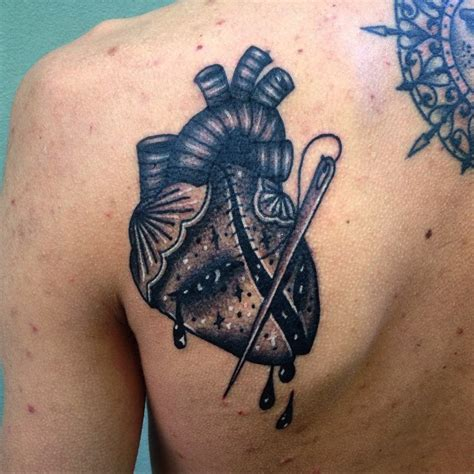 broken heart tattoo mended broken best ideas gallery