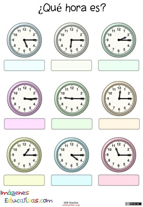 imagenes para hora hot trabaja las horas y los relojes con estas fichas para
