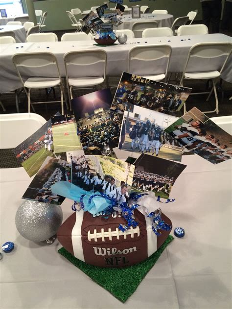 football centerpiece banquet ideas pinterest