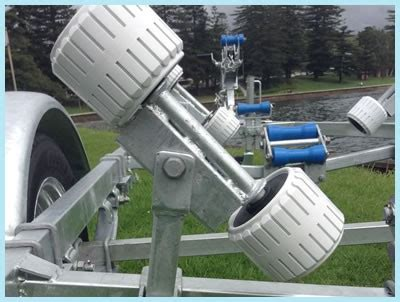 boat trailer rollers canberra seatrail boat trailers at manning marine in wollongong