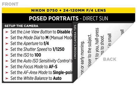 sample nikon  cheat sheet photography nikon