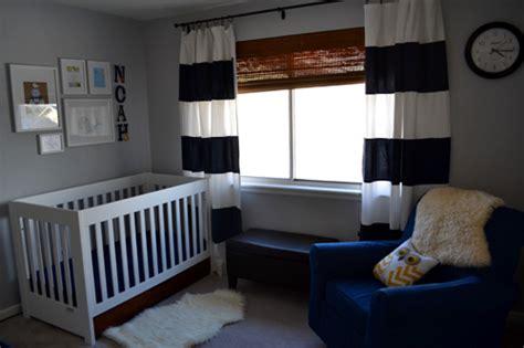 Navy Blue Curtains For Nursery Noah S Navy Blue And White Nursery Project Nursery