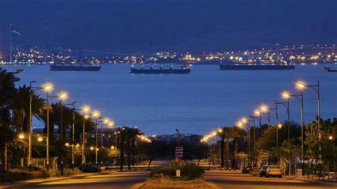 porto israeliano relax balneare ad aqaba sul mar rosso