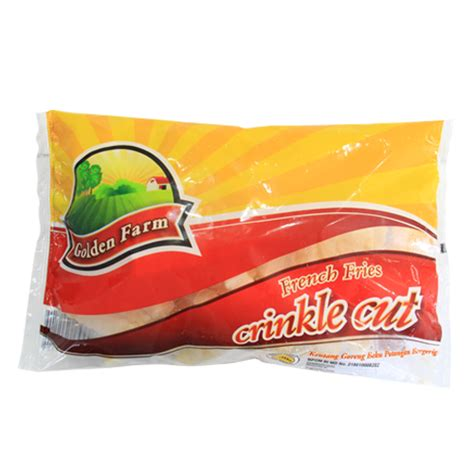 golden farm crinkle cut 1kg golden farm fries shoestring 500 gr sukanda djaya