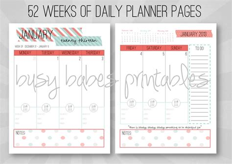 customizable printable weekly planner 2015 personalized planner letter size monthly