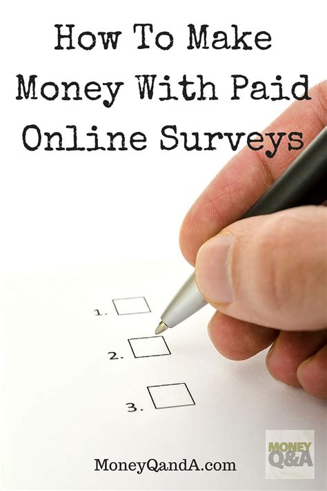 Paid Online Surveys For Money - can you really make money with paid online surveys
