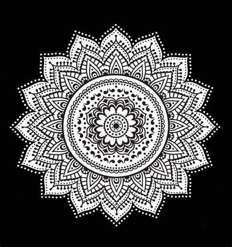 Sun And Moon Duvet Cover Black Amp White Rangoli Mandala Wall Tapestry Royalfurnish Com