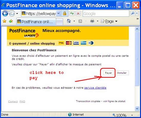 bank clearing number postfinance payment in
