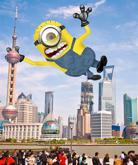 Minions World Graphic 7 minions taking places all around the world