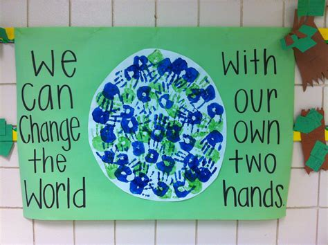 day activity ideas earth day handprint activity made this with my second