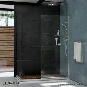 30 Shower Door Linea Frameless Shower Door Two 30 Quot X 72 Quot Glass Panels Brushed Nickel Modern Shower Doors