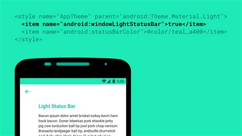 themes color status bar android m introduces black status icons for light colored