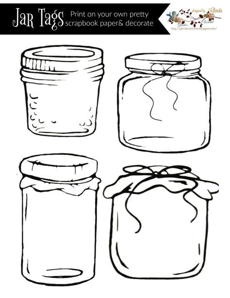 Glenda S World Donation Jar Label Template