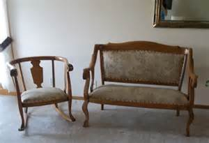 Settee And Chairs For Sale Matching Oak Settee And Rocking Chair Era 1920 S For Sale