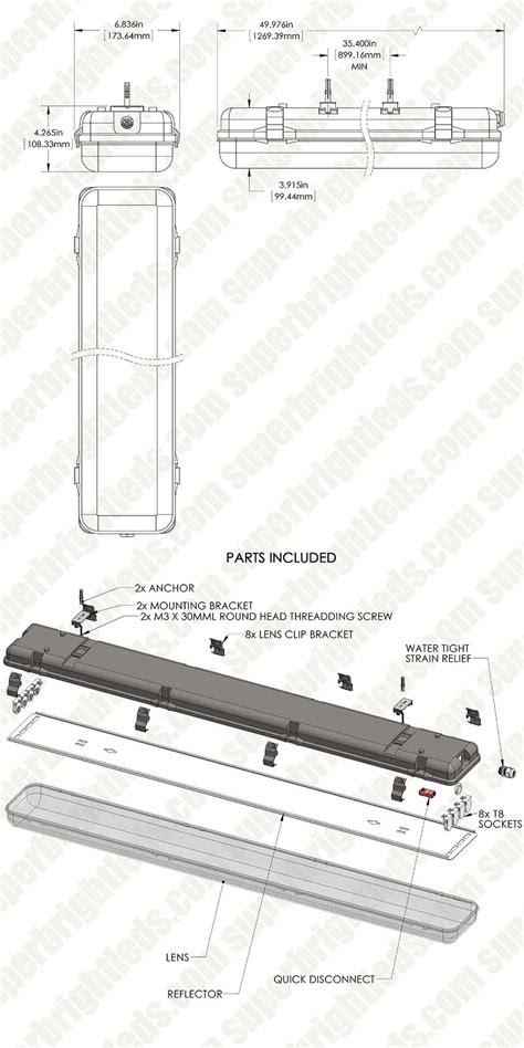 t8 led light fixtures t8 vapor led light fixture for 4 led t8