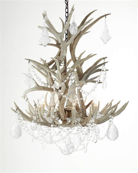 Stag Horn Chandelier Stag Eight Light Chandelier Contemporary Chandeliers By Horchow