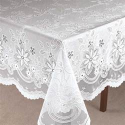 Dining Room Table Protector by Vinyl Lace Tablecloth Crochet Vinyl Lace Tablecloth