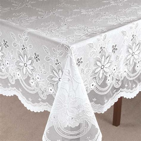 Oval Office Decor by Vinyl Lace Tablecloth Crochet Vinyl Lace Tablecloth
