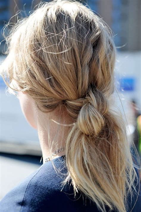 view  double hair knot hair knot ponytail