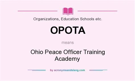 Peace Officer License by What Does Opota Definition Of Opota Opota Stands