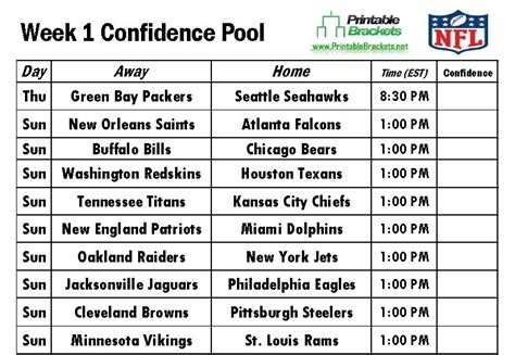 printable nfl schedule with betting line printable nfl grid sheets 2014 2015 autos post