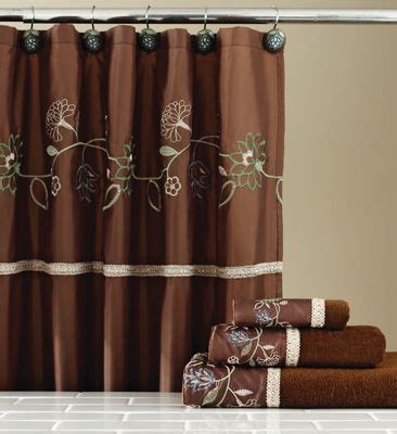 delilah curtains delilah chocolate floral shower curtain w hooks