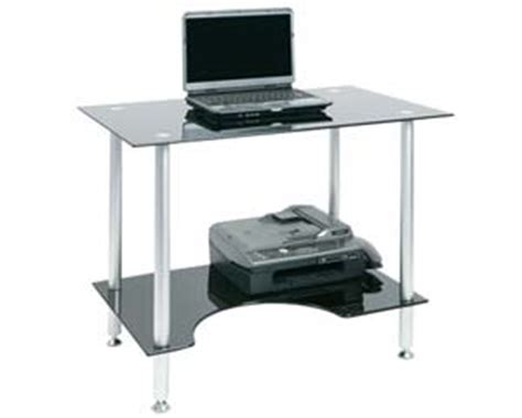 Asda Computer Desk Black Glass Computer Desks