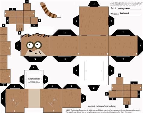 Papercraft Shows - regular show papercraft mordecai papercraft regular