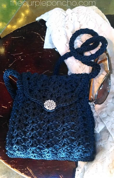 free crochet pattern crossbody bag crochet crossbody bags purses the purple poncho