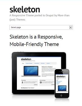 drupal themes skeleton free drupal 7 responsive themes agilelion