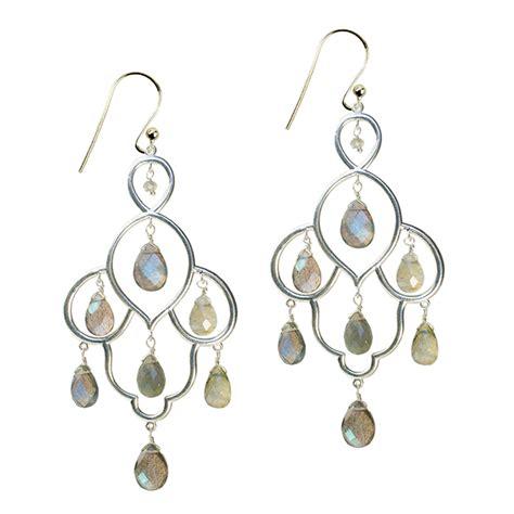 Layla Earrings layla chandelier earrings labradorite silver