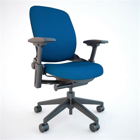 steelcase leap office chair 3d model max obj fbx