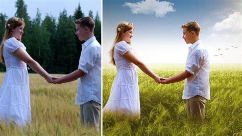 tutorial editing wedding photoshop wedding couple outdoor photos editing in photoshop