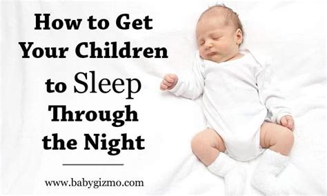 baby sleep through the how ten tips on getting your children to sleep through the