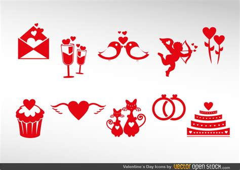 valentines sets s icon set free vector
