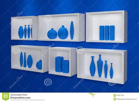 scaffali moderni mensole moderne illustrazione di stock immagine 43617702