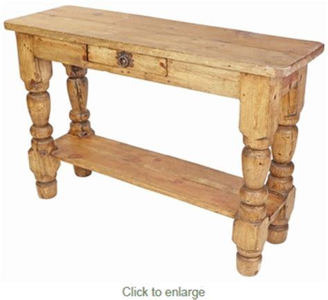 turned leg sofa table rustic pine turned leg sofa table with drawer