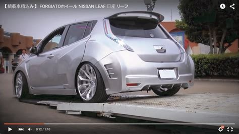 slammed nissan leaf pimped up nissan leaf on forgiato wheels takes us back to