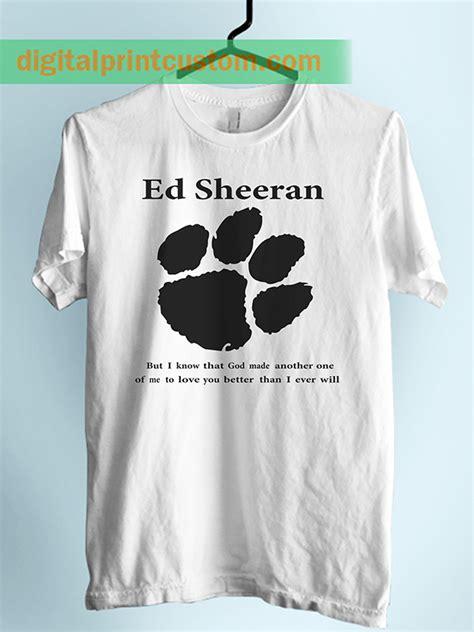 Kaos T Shirt Ed Sheeran Paw Navy ed sheeran paw lyrics unisex tshirt