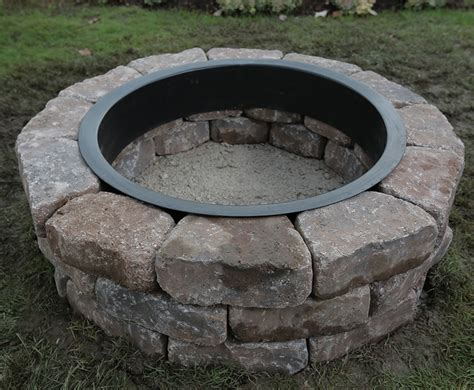 firepit rings steel firepit ring 30 quot stainless steel pit ring high